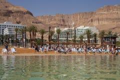 Vista alla spiaggia del mar Morto Fotografia Stock Libera da Diritti