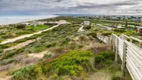 Vista alla spiaggia di Goolwa Fotografia Stock