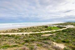 Vista alla spiaggia di Goolwa Fotografia Stock Libera da Diritti
