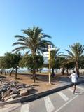 vista alla spiaggia di Sagunto - la Spagna immagini stock libere da diritti