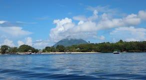Vista alla spiaggia in Manado Immagine Stock Libera da Diritti