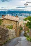 Vista alla valle di Toscany Fotografie Stock