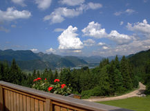 Vista alla valle di Walchsee. Fotografia Stock