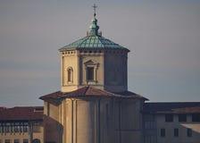 Vista alla vecchia torre di Citta Alta, Bergamo, Italia Fotografia Stock