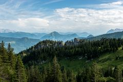 Vista alle alpi dal Kampenwand Fotografia Stock Libera da Diritti