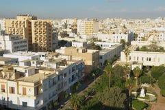 Vista alle costruzioni di zona residenziale di Sfax in Sfax, Tunisia Immagini Stock Libere da Diritti