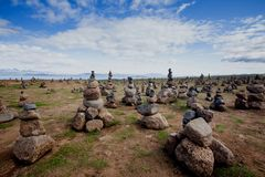 Vista alle pianure islandesi durante l'estate Fotografia Stock Libera da Diritti