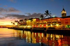 Vista Aloha de la torre, Hawaii Imágenes de archivo libres de regalías