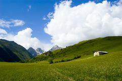 Vista in alpi francesi Fotografie Stock Libere da Diritti