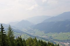 Vista alpina Foto de Stock Royalty Free