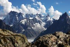 Vista alpina Fotografie Stock Libere da Diritti