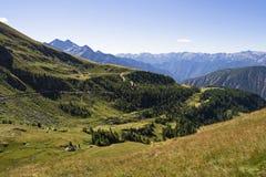 Vista alpina Immagini Stock
