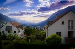 Vista alpina Fotografia de Stock
