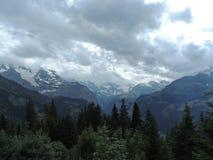 Vista alpina Imagem de Stock