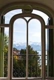 Vista alpina Fotografia de Stock Royalty Free