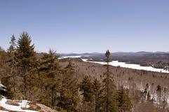 Vista alpina cénico em montanhas de Adirondack dos Estados de Nova Iorque fotografia de stock royalty free