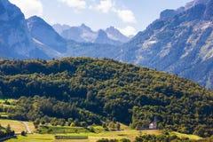 Vista alpina in Cavedago Immagini Stock Libere da Diritti