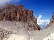 Vista alpina dalla regione di Camosci di dei del campanile nel Brenta Immagine Stock Libera da Diritti