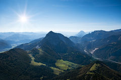 Vista alpina di estate Immagine Stock Libera da Diritti
