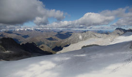 Vista alpina do Vedretta de Pisgana, altura 3000m Foto de Stock Royalty Free