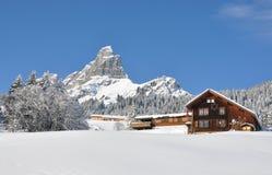 Vista alpina maestosa Immagini Stock Libere da Diritti