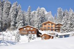 Vista alpina majestosa Imagem de Stock