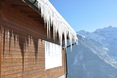 Vista alpina majestosa Imagens de Stock