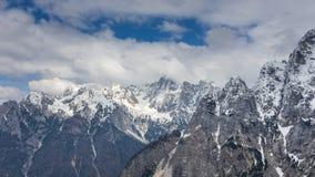 Vista alpina nelle vicinanze del passaggio Vrsic Fotografie Stock