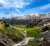 Vista alpina Vorarlberg, Áustria imagens de stock