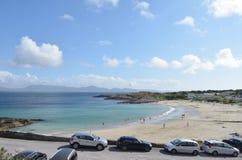Vista alta da praia da angra do castelo no Kerry, Irlanda Imagens de Stock