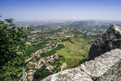 Vista alta de São Marino Fotos de Stock