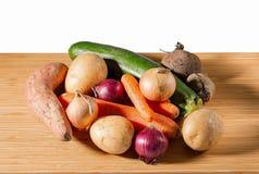 Vista alta vicina dell'insieme delle verdure variopinte fresche Concetto sano dell'alimento fotografia stock