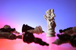 vista alta vicina di scacchi Fotografia Stock Libera da Diritti