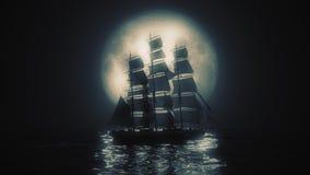 Vista altamente stilizzata di una nave alta royalty illustrazione gratis