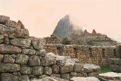 Vista alternativa de Machu famoso Picchu, Peru   Imagens de Stock Royalty Free