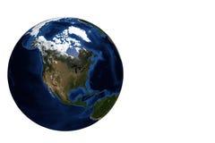 Vista Amercia del nord del globo Immagini Stock Libere da Diritti