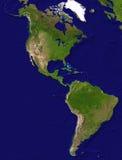 Vista americana del continente Immagini Stock