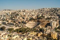 Vista a Amman Fotografia Stock