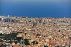 Vista amplia de Barcelona España Foto de archivo