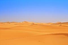 Vista amplia de las dunas de arena Fotografía de archivo libre de regalías