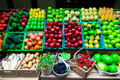 Vista amplia de las frutas fondo y textura fotos de archivo libres de regalías