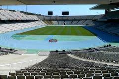 Vista amplia del estadio vacío Imagen de archivo libre de regalías