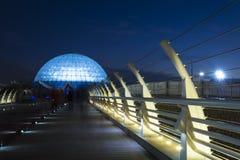 Vista amplia del planetario más grande de Oriente Medio, Mina Dome imágenes de archivo libres de regalías