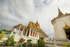 Vista ampliata della pagoda d'argento - Royal Palace in Phnom Penh, Cambogia Fotografia Stock