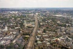 Vista angular da cidade de Londres de cima de fotos de stock