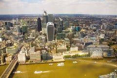 Vista angular da cidade de Londres de cima de foto de stock royalty free