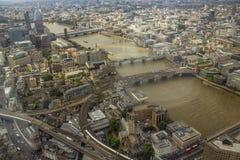 Vista angular da cidade de Londres de cima de imagem de stock