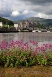 Vista ao castelo de Conwy fotografia de stock