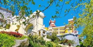 Vista ao castelo de Pena Foto de Stock