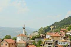 A vista ao castelo no Travnik Imagens de Stock Royalty Free
